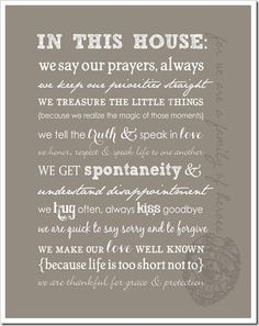 In This House...