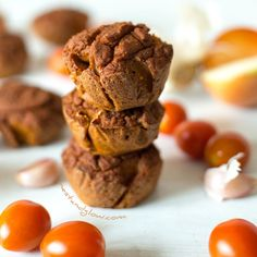 Stacked Quinoa Sundried Tomato Muffins [quinoa + brown rice]