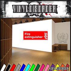 Fire Safety Sign Wall Decal - Vinyl Sticker - Car Sticker - Die Cut Sticker - CD070