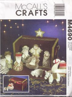 Holiday Decoration Nativity Dolls and Animals by PeoplePackages, $9.95