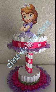 Disney Sofia the First Handmade Centerpiece Sofia The First Birthday Party, Unicorn Birthday Parties, Girl Birthday, Princess Sofia Party, Princesa Sophia, Birthday Party Centerpieces, Holidays And Events, Party Themes, Party Ideas