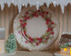 Miniature Holly Dishes Kit by true2scale on Etsy