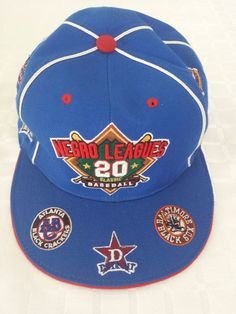 261a12b109f Baseball Hat Cap Fitted XL Blue and Red Negro League 20 Classic Teams