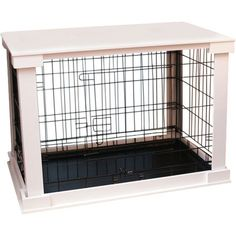 Transform your pet's crate into a functional piece of furniture with this must-have cage and table set, perfect for the living room or den.