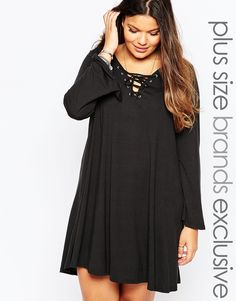 Image 1 of Alice & You Lace Up Swing Dress
