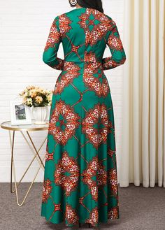Dresses For Women Long African Dresses, Latest African Fashion Dresses, African Print Fashion, Women's Fashion Dresses, African Print Dress Designs, Tribal Print Dress, Tribal Prints, African Traditional Dresses, African Attire