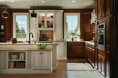 [ Dark Maple Kitchen Cabinets Ivory Accents Homecrest Cabinetry Faircrest Heritage White Kitchen Cabinets Bargain Outlet ] - Best Free Home Design Idea & Inspiration Kitchen Gallery, Kitchen Design Gallery, Kitchen Remodel, Homecrest Cabinets, Kitchen Inspiration Design, Kitchen Cabinet Design, Maple Kitchen Cabinets, Maple Kitchen, Kitchen Cabinets