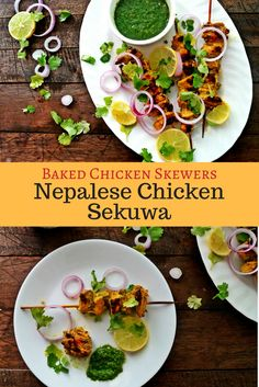 Nepalese Chicken Sekuwa or Chicken Skewers