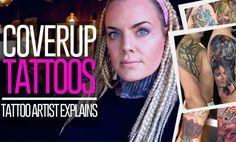 Do you need to cover up a tattoo? Or maybe you are a tattoo artist looking for info on how to make great coverups? I asked for questions on Coverups, and I a. Cover Up Tattoos For Men, Tattoos For Guys, Oslo, Tattoo Process, Fresh Tattoo, Sun Lotion, Tattoo Care, Old Tattoos, Tattoo Videos