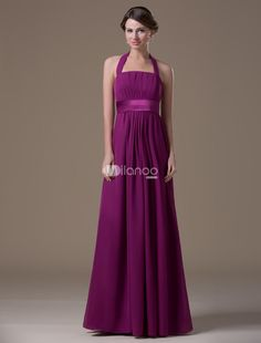 Popular Burgundy Halter Floor Length Maternity Bridesmaid Dress. The gorgeous design of this dress will keep people guess whether its really a maternity gown or not. It features a beautiful halter-style bodice bodice in a gathered pattern and lovely coordinating waistsash. The A-line.. . See More Maternity Bridesmaid Dresses at http://www.ourgreatshop.com/Maternity-Bridesmaid-Dresses-C927.aspx
