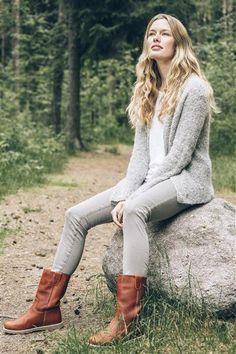 1414: Modell 7 Jakke #Tweed #strikk #yarn