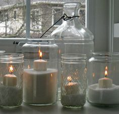 The Lily Pad Cottage: Christmas Candles just dump Epsom salt in and pop in the candle