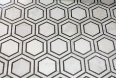 Hex Appeal Tile - White and Black