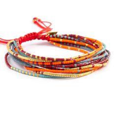 Chan Luu - Red Mix Multi Strand Bracelet on Red Cord, $95.00 (http://www.chanluu.com/bracelets/red-mix-multi-strand-bracelet-on-red-cord/)