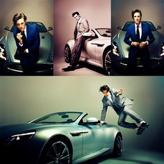 Matt Smith.   The car was nice, then Matt Smith got in the picture, well it's a beautiful car isn't it?