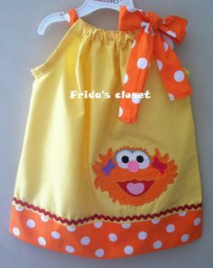 Adorable Sesame street zoe pillowcase dress