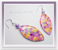 Kaleidoscope Abstract Earrings, polymer clay jewelry via Etsy.