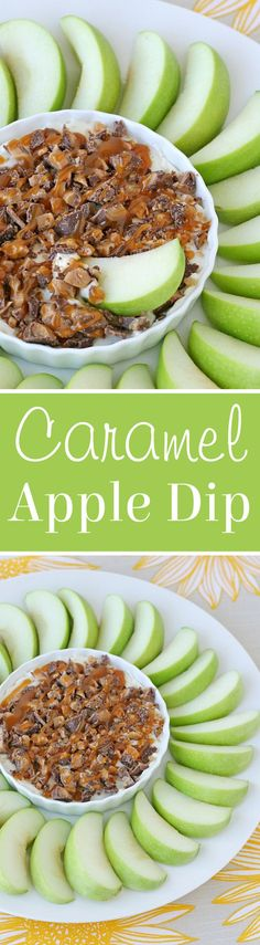 Simply the perfect snack, appetizer or dessert! Caramel Cream Cheese Apple Dip!