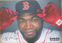 David Ortiz Boston Red Soxs Stadium Give-Away ENEOS MOTOR OIL Canvas Print David Ortiz, Red Sox Baseball, Boston Red Sox, Canvas Prints, Oil, Photo Canvas Prints, Butter