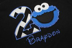 Cookie Monster Birthday Party Shirt Boys by WhimsyBellesandBeaus, $22.99