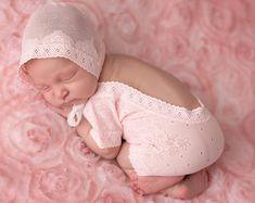 Newborn Lace Romper Newborn Bodysuit Photography by TheDamaskBaby