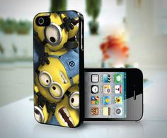 Despicable Me Minions Favorite PB0015 M - Custom Design iPhone 4 / 4S And IPhone 5 Case Apple Phone Cover Plastic Black / White. $15.89, via Etsy.