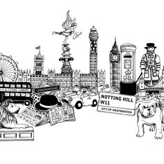 Johanna Basford / London / Coloring Pages / Coloriages Londres