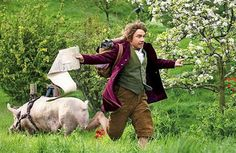 """""""Who Wants To See Martin Freeman Running Away From A Pig? By Fraser McAlpine 
