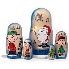 Peanuts Christmas Nesting Dolls