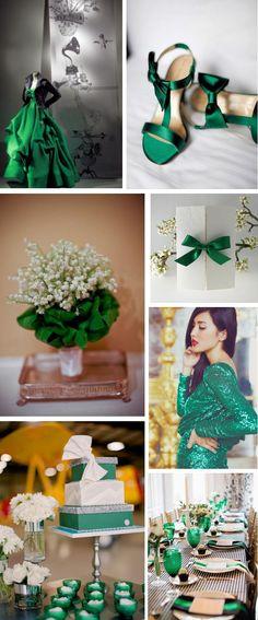 emerald green wedding ideas Emerald Green Wedding Inspiration   Pantone 2013 Color