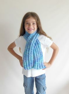 Chunky Double Knit Scarf Toddler/Child Size in by HeavenBoundHCA