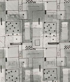 Wallpaper design by Lilly Jacker, produced in 1928.