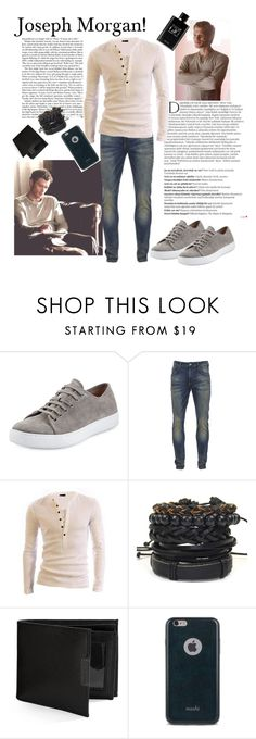 """Joseph Morgan!"" by abikaj ❤ liked on Polyvore featuring Balmain, Vince, Scotch & Soda, Perry Ellis, Moshi, Giorgio Armani, men's fashion and menswear"