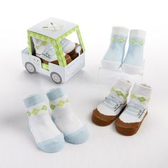 """Fairway Footies"" 3 Pair of Socks Gift Set (Boy) – Boston Baby Co. Baby Shower Gifts For Boys, Baby Boy Gifts, Baby Boy Shower, Personalized Baby Blankets, Personalized Baby Gifts, Baby Booties, Baby Shoes, Toddler Boutique, Baby Aspen"