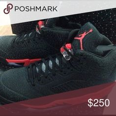 """Air Jordan 5 3LAB5 """"Infrared"""" I've worn these shoes only three times. There practically brand new. They come in the original box and the element card is included. NO TRADE!!!!!!!! Jordan Shoes Sneakers"""
