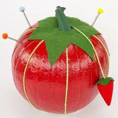 Disguise your pumpkin as a pincushion this Halloween. Create this no-carve…