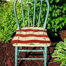 """Old Glory"" Patriotic Chair...more pics and details on my Facebook page: Carol's Paint Creations"