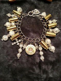 White Ammo Charm Bracelet  Follow on Facebook