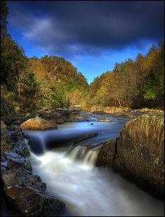 Just downstream from the Linn of Tummel - Scotland