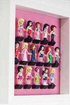 Lego friends 16 minifigure Acrylic mount insert for IKEA RIBBA frame