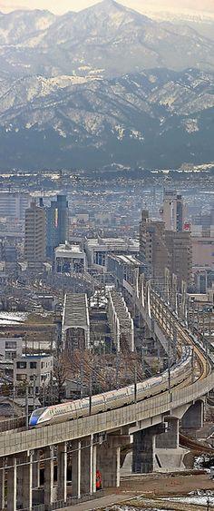 写真・図版 High Speed Rail, Toyama, Train Travel, Nice View, Paris Skyline, Japan, World, Places, Water