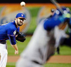 Matt harvey, NYM, pitches to Alcides Escobar, KC///WS Game 5 , Nov 1, 2015