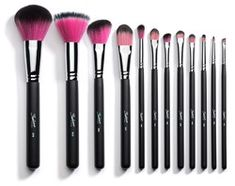 12 Piece Synthetic Professional Makeup Brushes with Brush Cup Holder