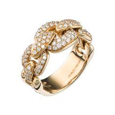 Ring aus Roségold mit Diamanten - GIORGIO VISCONTI