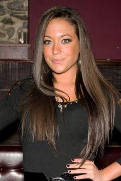 Sammi Giancolas long, sleek hairstyle