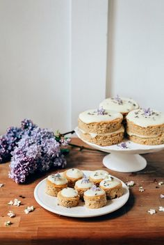 Hummingbird High: Lemon, Lavender and Earl Grey Mini Cakes and Petit Fours