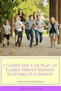 7 Games You Can Play At Family Photo Sessions To Evoke Fun Shots! | Cozy Clicks Photography Phoenix Family and Child Photographer in Ahwatukee, Scottsdale and Phoenix Areas. Large Family Pictures, Large Family Poses, Fun Family Photos, Family Picture Poses, Family Shoot, Family Photo Sessions, Family Posing, Family Portraits, Couple Shoot
