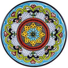 Tomas Huerta TalaveraPlate - Pattern 71 ♥️♣️♣️Talavera Mexican Pottery : More At FOSTERGINGER @ Pinterest ♣️