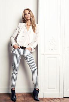 Mango stripe pants: New Season Fall Winter 2013