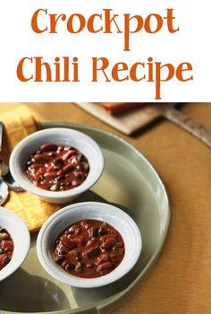 Crockpot Chili Recipe! #slowcooker #recipes